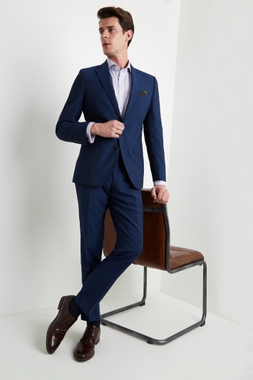 Moss 1851 Tailored Fit Blue Black Jacket