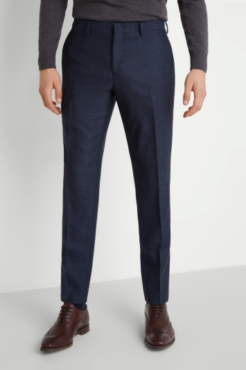 Moss 1851 Tailored Fit Navy Speckled Trousers