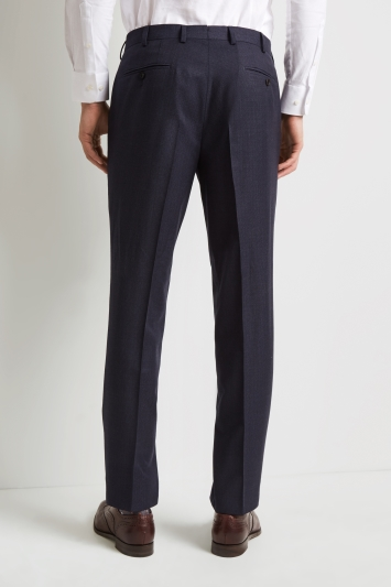 Ermenegildo Zegna Cloth Tailored Fit Navy Micro Check Trousers