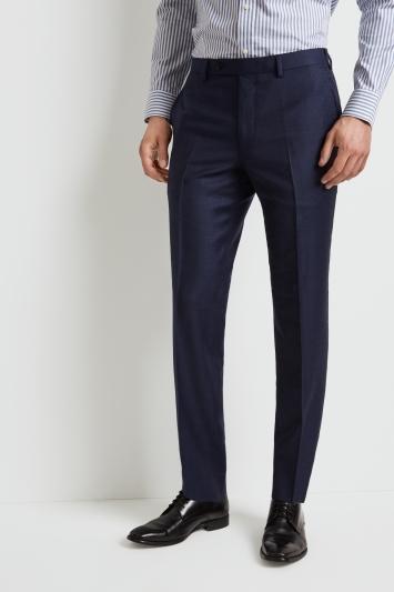 Ermenegildo Zegna Cloth Tailored Fit Blue Marl Trousers