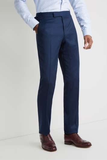Richard James Tailored Fit Blue Flannel Trousers