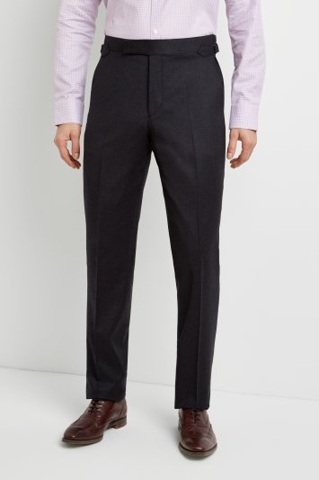 Richard James Tailored Fit Charcoal Flannel Trousers