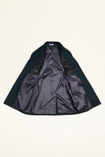 Moss London Slim Fit Teal Overcoat