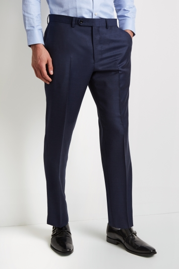Ermenegildo Zegna Cloth Regular Fit Blue Marl Trousers