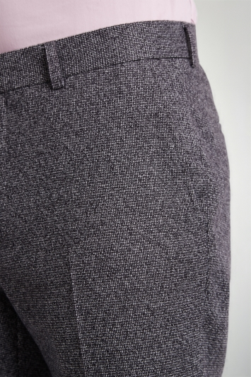 Moss London Skinny Fit Charcoal Puppytooth Trousers
