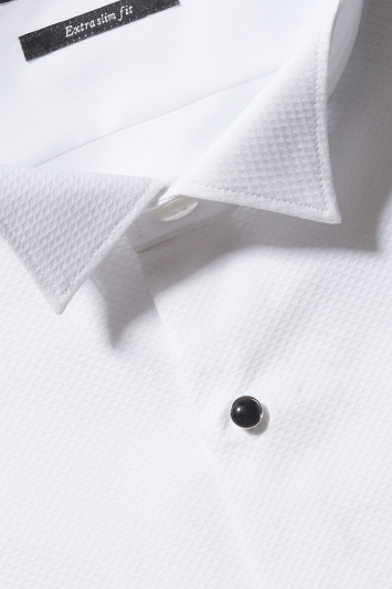 Extra Slim Fit White Marcella Wing Collar Dress Shirt