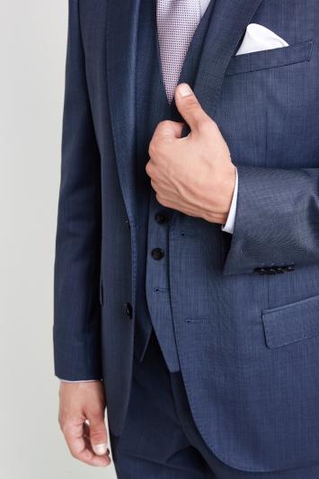 HUGO by Hugo Boss Mid Blue Semi Plain Blend Jacket