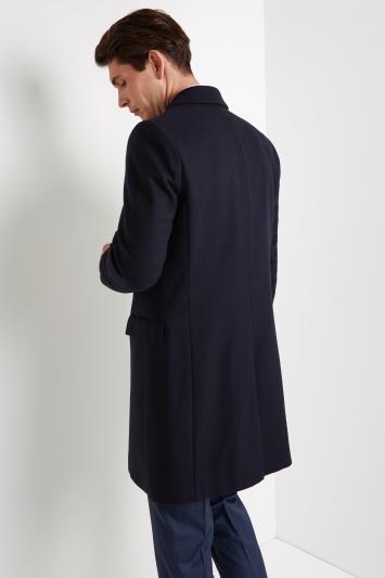 HUGO by Hugo Boss Navy Migor Overcoat