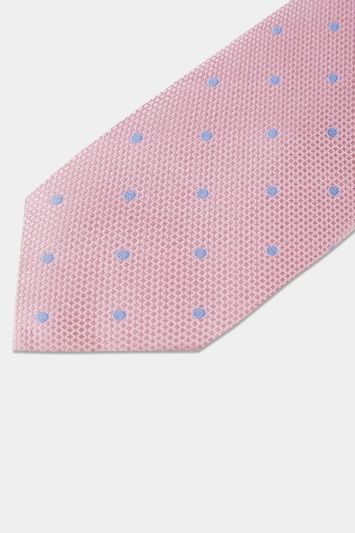Moss 1851 Pink with Sky Spot Tie