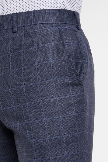 Ted Baker Performance Tailored Fit Blue Grey CheckTrousers