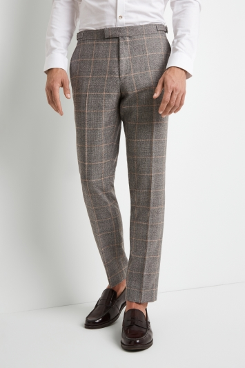 Moss London Premium Skinny Fit Grey Clementine Check Trousers