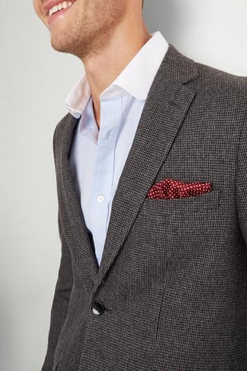 Moss London Skinny Fit Light Grey Puppytooth Jacket