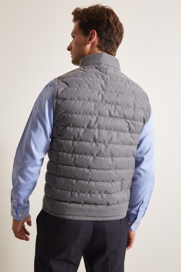Moss 1851 Tailored Fit Light Grey Brushed Gilet