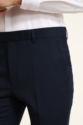Moss 1851 Navy Twill Dress Trousers