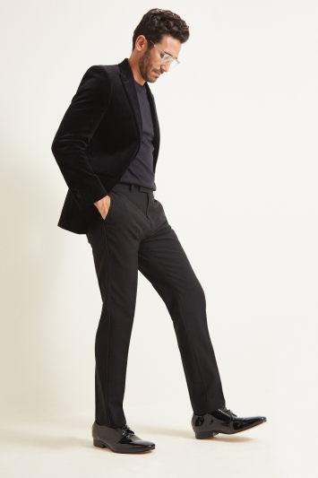 Moss 1851 Tailored Fit Black Velvet Dress Jacket
