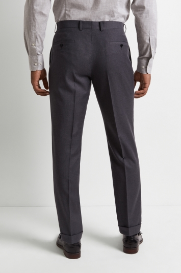M/&S Luxury Pure Wool Rrp £84 Grey-Blue Mens Regular Fit Trousers  W-32-L-29-31