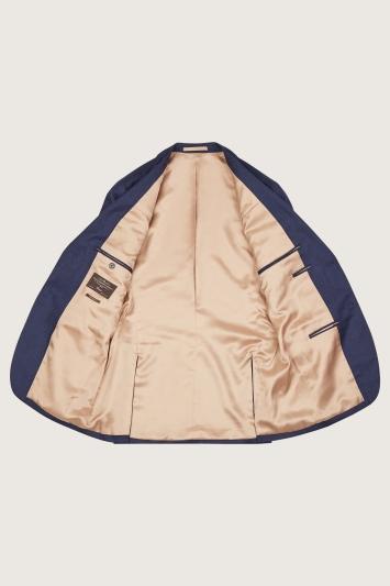 Barberis Tailored Fit Plain Blue Jacket