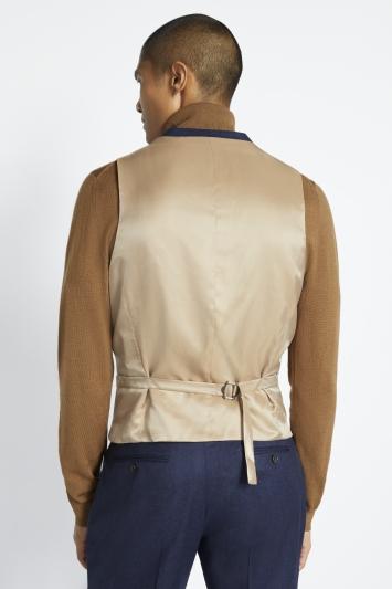 Barberis Tailored Fit Plain Blue Waistcoat