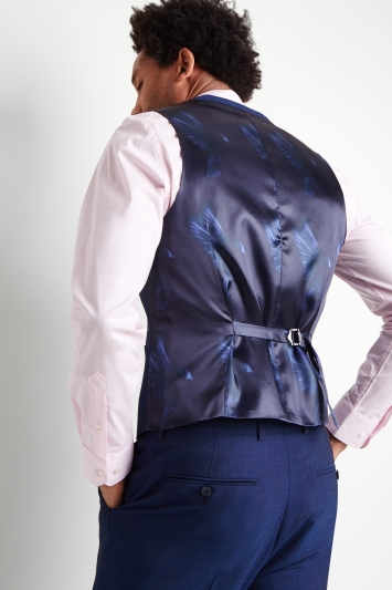 French Connection Slim Fit Teal Waistcoat
