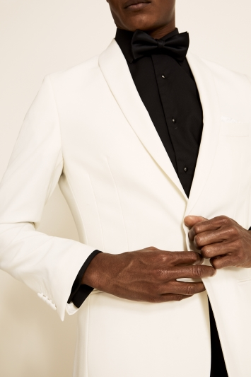 Tailored Fit White Dress Jacket