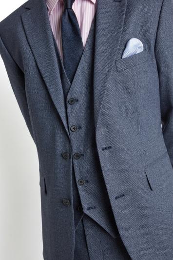 Moss 1851 Tailored Fit Navy Salt & Pepper Jacket