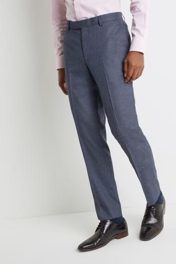 Moss 1851 Tailored Fit Navy Salt & Pepper Trousers