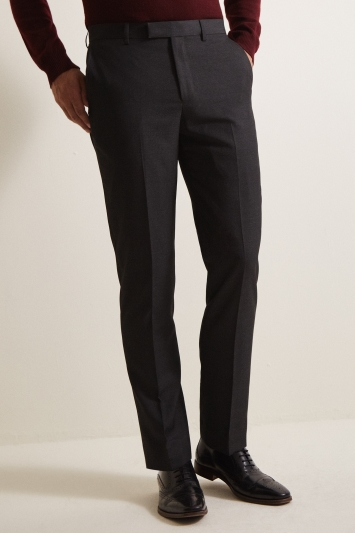 Moss 1851 Tailored Fit Charcoal Trousers