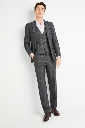 Moss Esq. Regular Fit Bold Prince of Wales Check Jacket