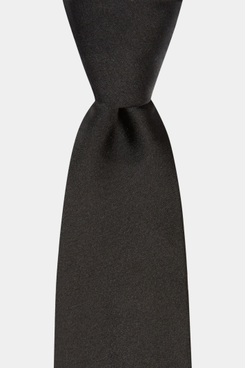 Black Satin Silk Tie
