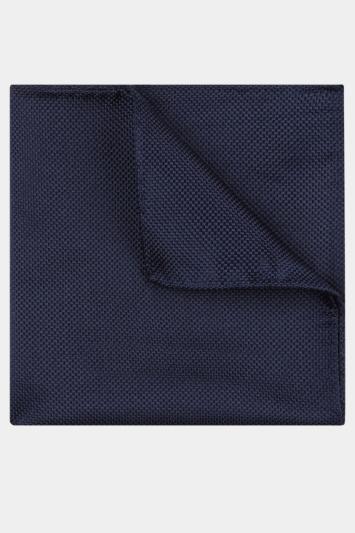 Moss Esq. Navy Textured Natte Pocket Square