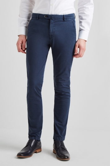 Savoy Taylors Guild Tailored Fit Navy Chinos