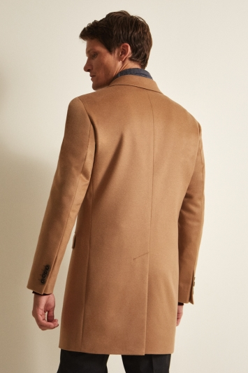 Savoy Taylors Guild Tailored Fit Camel Cashmere Coat