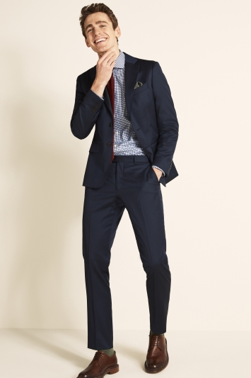 Savoy Taylors Guild Tailored Fit Navy Twill Jacket