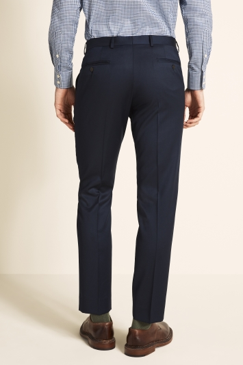 Savoy Taylors Guild Tailored Fit Navy Twill Trousers