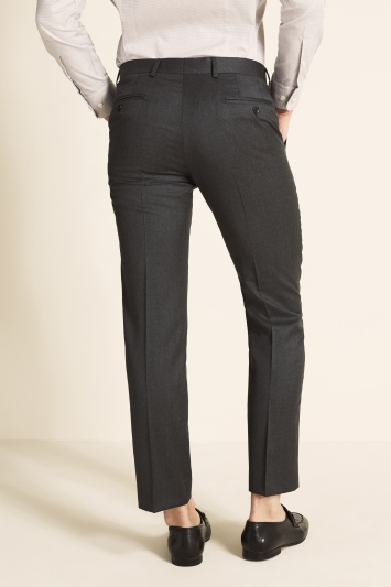 Savoy Taylors Guild Tailored Fit Grey Twill Trousers