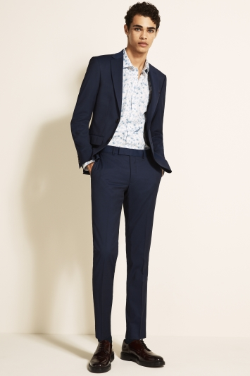 Moss London Slim Fit Ink Stretch Jacket