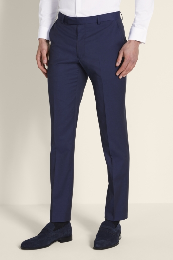 Moss London Slim Fit Ink Stretch Trousers