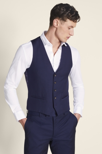 Moss London Slim Fit Ink Waistcoat