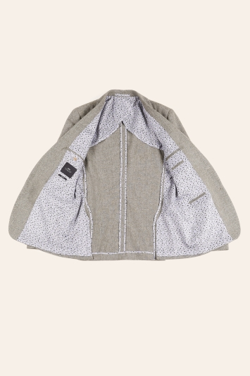Moss London Slim Fit Sage Herringbone Tweed Jacket