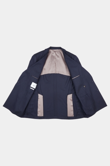 Moss 1851 Tailored Fit Navy Double Breasted Travel Blazer