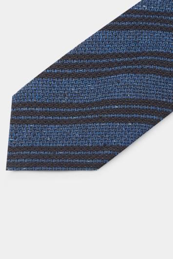 Savoy Taylors Guild Blue Tri-Stripe Italian Tie
