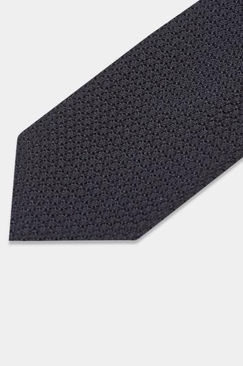 Savoy Taylors Guild Navy Grenadine Italian Tie
