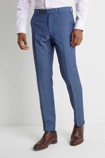 Ted Baker Tailored Fit Faded Blue Twill Trousers