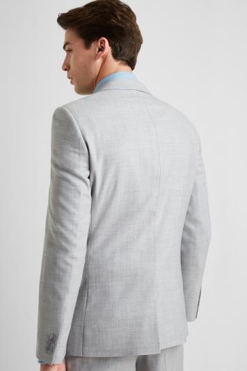Ted Baker Tailored Fit Light Grey Crepe Jacket
