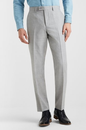 Ted Baker Tailored Fit Light Grey Crepe Trousers