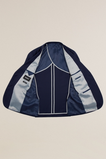 Slim Fit Navy Panama Jacket
