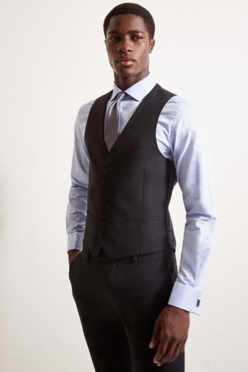 DKNY Slim Fit Black Waistcoat