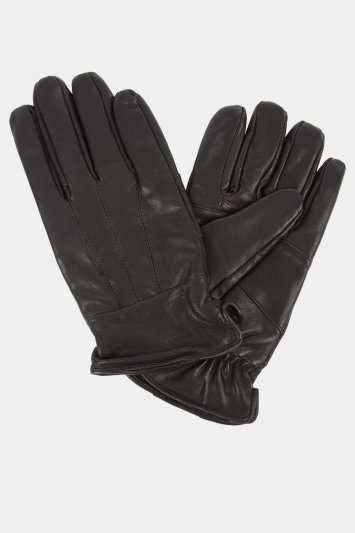 Moss 1851 Black Leather Gloves