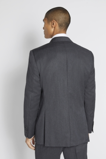 Savoy Taylors Guild Regular Fit Charcoal Twill Jacket