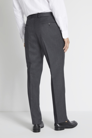 Savoy Taylors Guild Regular Fit Charcoal Twill Trousers